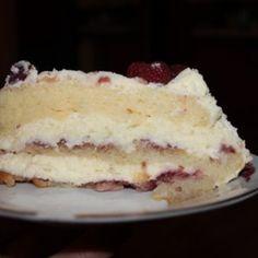 Tort z malinami Prze
