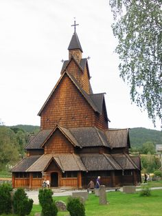 Wooden church building in Norway