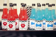 Gender Reveal Parties - themed drinks