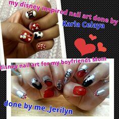 nail arts, disney nails