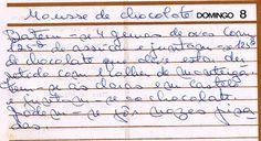 As Receitas da Avó Helena e da Avó Eduarda - Mousse de Chocolate