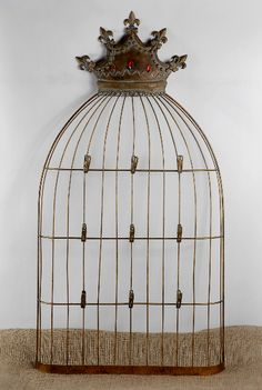 Crown Top Wire 38 in. Birdcage Frame Card Holder   $35