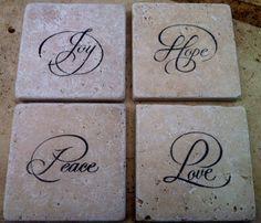 Natural Stone Tile Coasters
