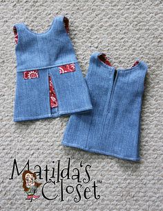 Matilda's Closet Inspired By Zooey Dress 18 inch Doll Clothes Pattern PDF Download | Pixie Faire