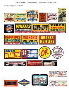Los signos de automóviles y chistoso - Sitio dedicado a 1/12th escala en miniatura casa de muñecas printables (printies)!