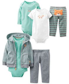 Carter's Baby Boys' Fox Friends Gift Bundle // what does it say?