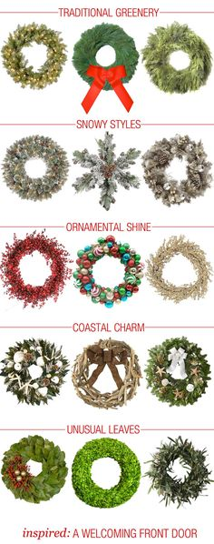 Wreathes galore! A roundup of all of our favorite wreaths and where to find them! #wreath #holiday #christmas