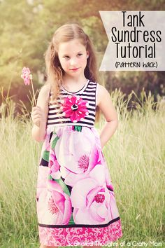 rose, free pattern, sundress tutori, tutori pattern, pattern hack, tank sundress, pattern size, girl sundress