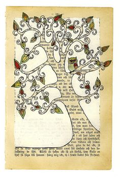 owl in a tree interest text, edit print, family trees, fantasi tree, illustrations, artsi owl, owl tattoo, owl illustr, illustration art owls