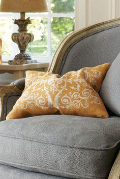 Tuscan Scroll Pillow - Orange Pillow, Accent Pillows, Home Decor | Soft Surroundings