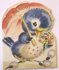 Vintage Birthday Birdie