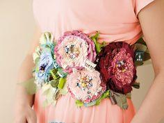 flower corsage belt