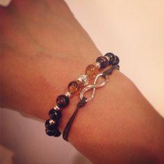 Infinity bracelet setperfect for Fall by AroundMyWrist on Etsy