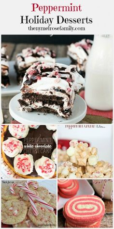 #Peppermint Holiday #Desserts