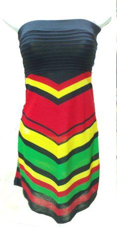 Cheap Rasta Clothing | Rasta Tube Top Dress - Dresses/Skirts/Pants by CULTUREAPPAREL