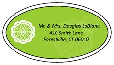 "Key Lime Green Oval Shaped Address Labels measures 2.5"" x 1.375"""