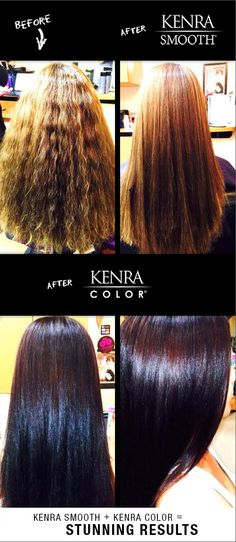 Kenra Smooth and Kenra Color work by Kristi Blanson.
