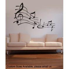 Vinyl Wall Decal Sticker Music Notes