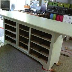 Work Desk from Old Dresser.