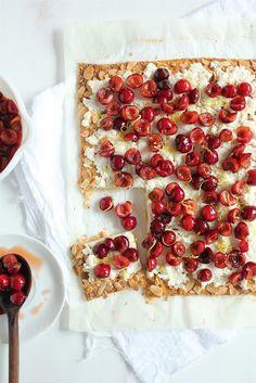 Weekend baking inspiration: a cherry ricotta tart.