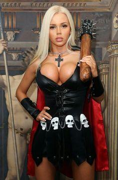 Katya Sambuca- Punisher bimbo land, hot cosplay girls sexy, girl fashion, long hair, katya sambuca, sexy cosplay babes