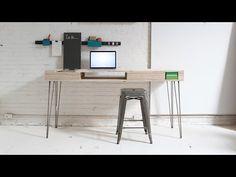 Diy simple plywood desk