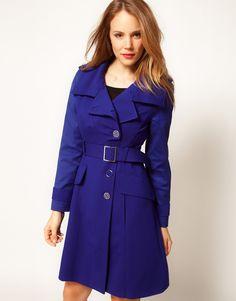 trench coat , blue coat