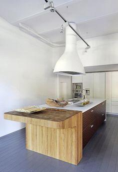 love this wood kitchen island