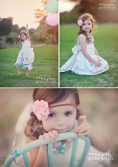 Cute photo shoot idea for a little girl!