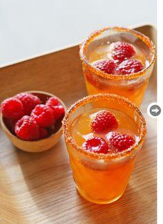 Blood orange soda, raspberries, orange sugar crystals, and honey! #pavelife #healthy