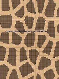giraffe print crochet pattern afghan graph