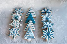 blue christmas cookies (1 of 4) | Cookie Connection