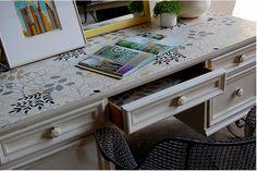 DIY Wallpaper furniture
