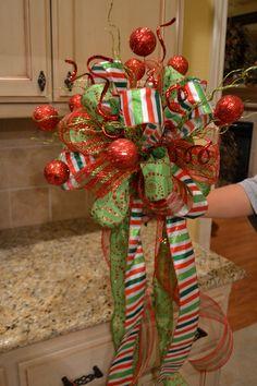 Festive Glitter Ball Christmas Tree Topper