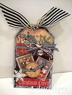 "Graphic 45 Christmas Tag (We can never go wrong with their products!  This one is a guaranteed, ""ooh & ahh"" card, that will be saved!)"