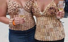 Tops of corks