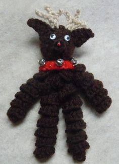 reindeer ornament; Christmas crochet pattern