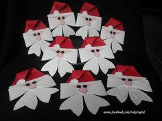 Santa made with stampin up bow die