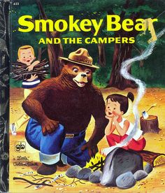 Little Golden Book: Smokey Bear and the Campers