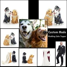 Custom Made Dog Cat Wedding Cake Topper Keepsake Decoration Gifts