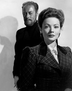 """Rex Harrison and Gene Tierney in """"The Ghost and Mrs. Muir"""""""