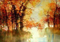 15 Beautiful Watercolor Landscape Paintings by ZL Feng   Read full article: http://webneel.com/webneel/blog/beautiful-watercolor-landscapes-artist-zlfeng   more http://webneel.com/paintings   Follow us www.pinterest.com/webneel