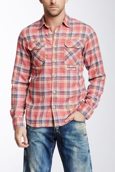 Plaid Long Sleeve Shirt on HauteLook