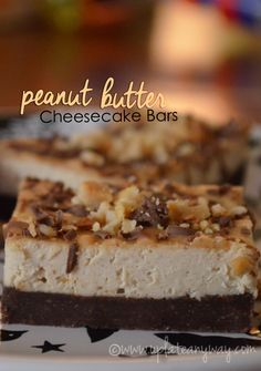Peanut Butter Cheesecake Bars » Low Carb » Gluten Free