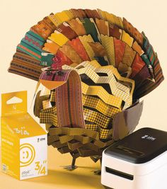 A Turkey Centerpiece perfect for Thanksgiving! Made with the @ZINKhAppy