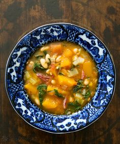 White Bean Soup with Pumpkin and Chard on Simply Recipes