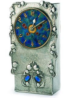 vintage items, knox clock, art crafts, copper, blue, archibald knox, antiqu, clocks, art nouveau