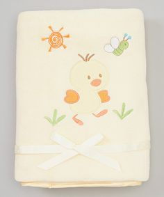 Look at this Yellow Duckling Blanket on #zulily today!