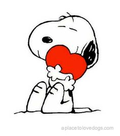 Snoopy from Peanuts - Snoopy has my heart #cartoons #dogs #puppies