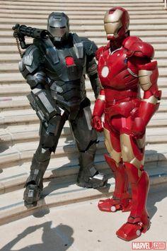 SDCC 2012: Iron Man & War Machine costumers at the Marvel Gathering    Photo by Nicole Ciaramella